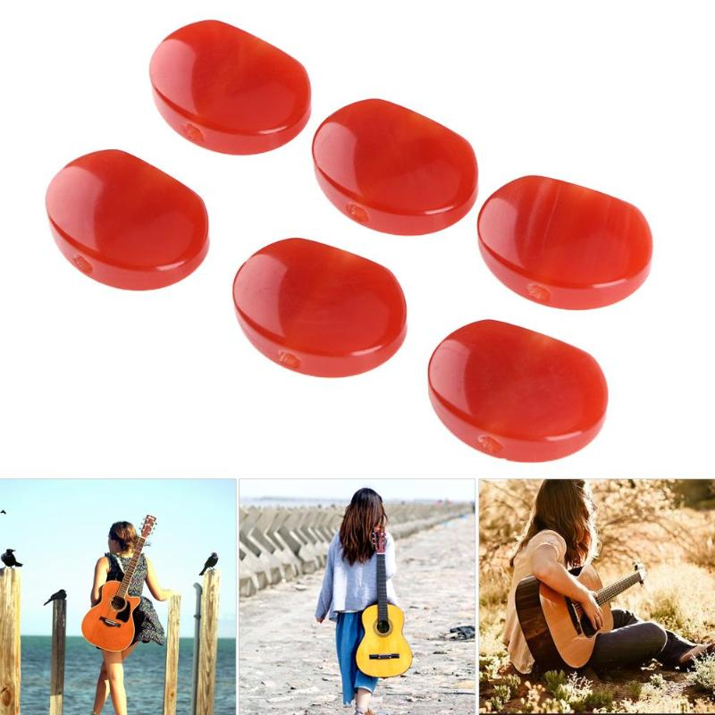6pcs/lot Resin Jade Red Acrylic Oval Electric Guitar Tuning Pegs Tuners Machine Head Replacement Button Knob Handle Cap