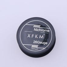 XFKM 10 m rolka Ni80 przewód grzejny cewki narzędzie majsterkowicza Vape dla RDA RBA atomizer do tanku RTA nichrom 80 cewki przewód grzejny s E papieros tanie tanio XFKM NI80 Heating Wires Metal 0 51mm 0 4mm 0 32mm 0 25mm 0 2mm