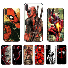 IMIDO Comics Deadpool  Case Soft Silicone Cellphones For Iphone 5 5S SE 6 6S 6PLUS 6SPLUS 7 8 7PLUS 8PLUS X XS XR XSMAX imido big money 100 dollars design case soft silicone cellphones for iphone 5 5s se 6 6s 6plus 7 8 7plus 8plus x xs xr xsmax