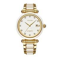 Neue Paar Liebhaber Uhr Jade Frau Uhren business herren Uhr jade mechanische hohl kalender sammler edition Mann der watchs-in Partneruhren aus Uhren bei