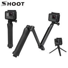 SHOOT Waterproof 3 Way Grip Mount Selfie Stick For GoPro Hero 6 5 4 Session SJCAM Xiaomi Yi 4K Eken h9 Camera Monopod Tripod Kit