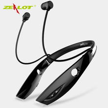 Cheaper Zealot H1 Stereo Sport Bluetooth Headset Auriculares Wireless Earphone Hands Free Luminous Earphone For Phone With Microphone