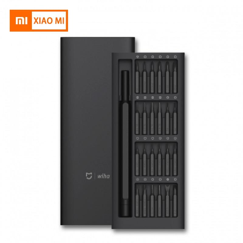 New Original Xiaomi Mijia Wiha Daily Use Screwdriver Tool Kit 24 Precision Magnetic Bits AL Box Screw Driver smart home Set Gift