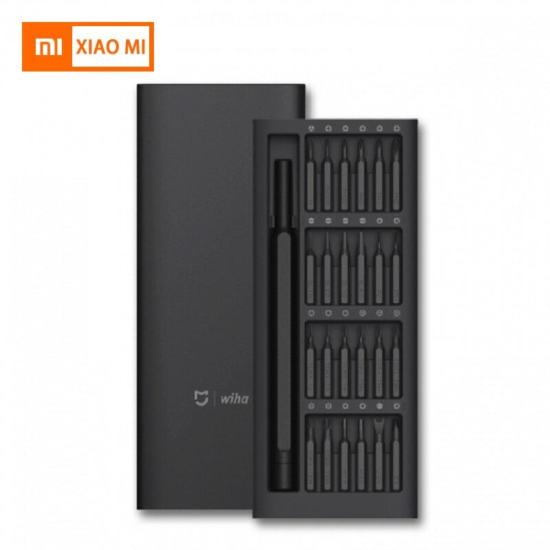Nuevo Original Xiaomi Mijia Wiha uso diario herramienta de destornillador Kit 24 precisión Bits magnéticos AL Caja de tornillo conductor inteligente casa set regalo
