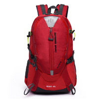 Hot Sale Red/green/balck 40L Outdoor Mountaineering Bags Water Nylon Shoulder Bag Men And Women Travel Hiking Camping Backpack