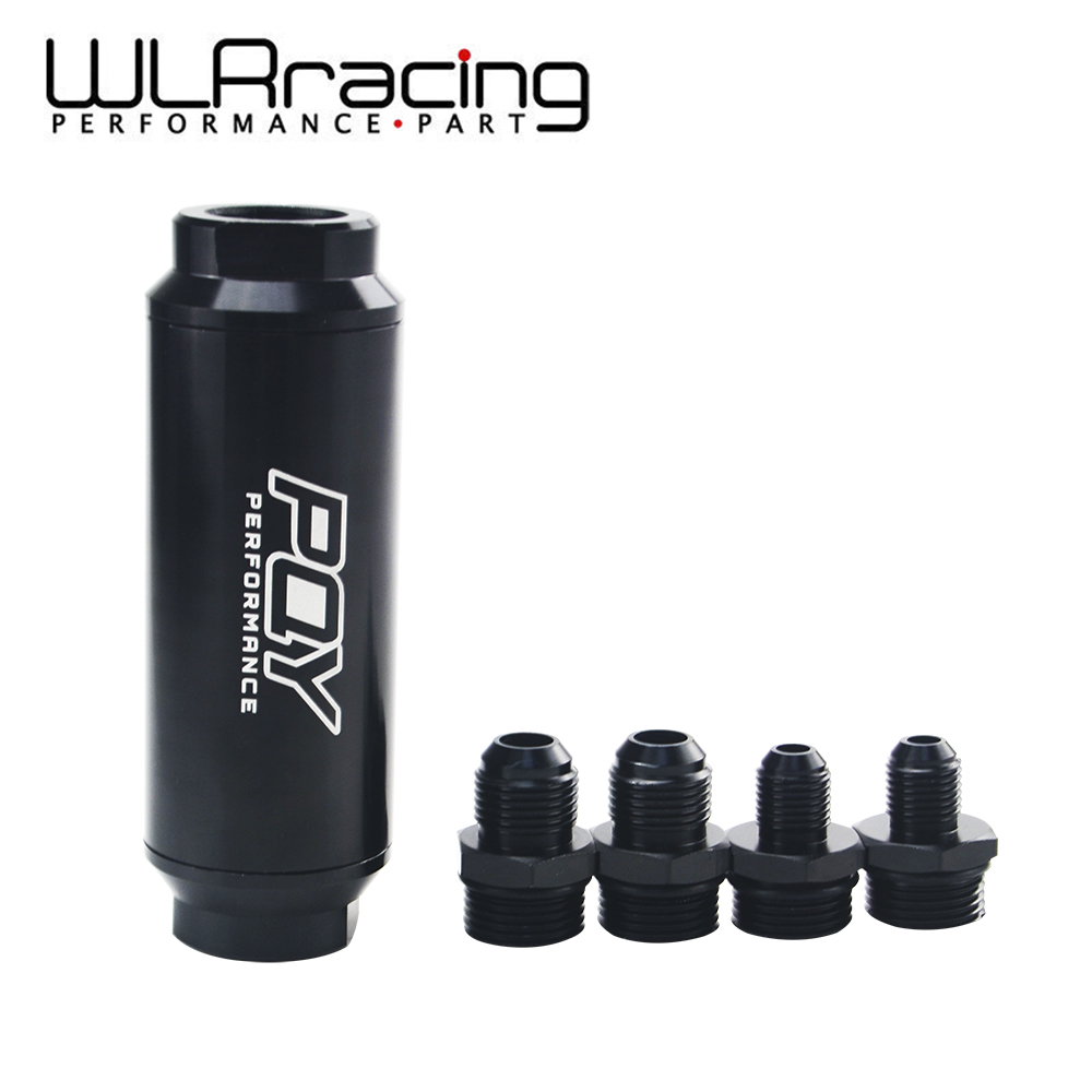 WLR RACING - PQY 44mm New Fuel filter with 2pcs AN6 and 2pcs AN8 adaptor fittings with 60micron steel element WLR5565 цена
