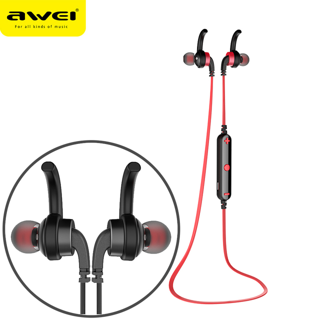 AWEI A960BL Bluetooth Earphones With Microphone Wireless Headphones Stereo  Headset Sport fone de ouvido Auriculares Ecouteur 425aaecca0ea0