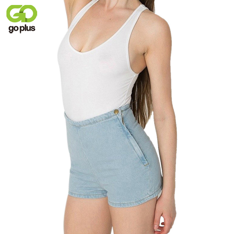 GOPLUS Hohe Taille Denim Shorts Frauen Candy Farbe Kurze Jeans Feminino Damen Schlank Sommer Casual Hosen Jeans Weibliche C1078
