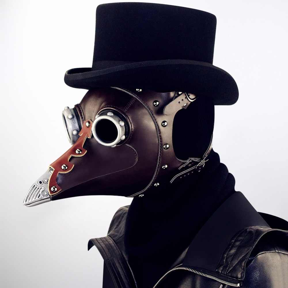 Изготовленная на заказ Паровая средневековая маска с клювом для маскарада
