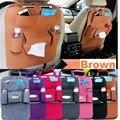 Cobertores de alta Qualidade Organizador Do Assento de Carro Universal de Multi Bolso Isolamento Automóvel Banco de Trás Saco De Armazenamento Humanizado Sentiu Cobertura
