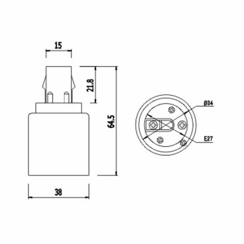 Gx24 To E27 Adapter Gx24q E26 L Holder Nverter Base
