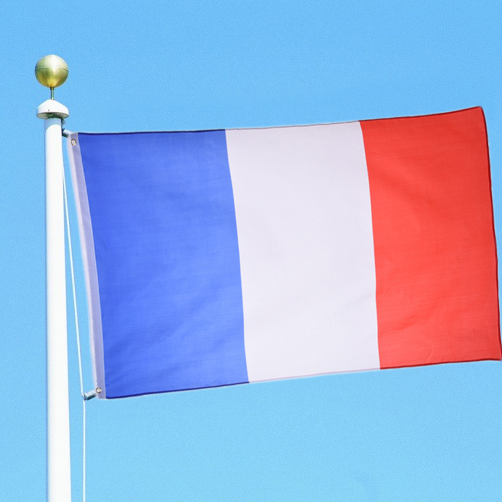 New Polyester Flag the France National Country Flag Hanging Banner for Festival Celebration Events Activity so on 90*150cm