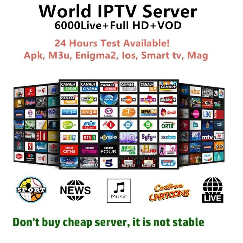 Full Europe World HD IPTV Subscription for Arabic Poland Dutch UK German  Greece Sweden Nordic USA IPTV M3u smart enigma2 tv box