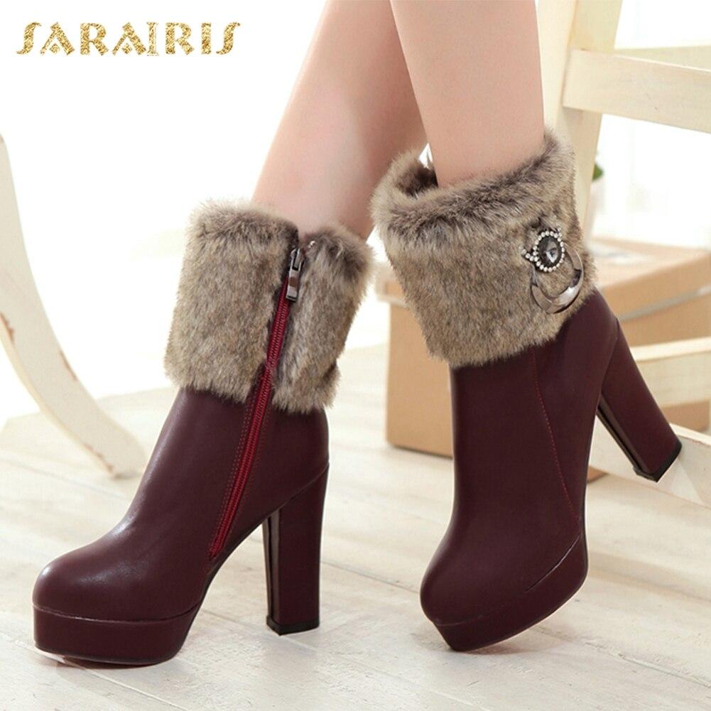 Invierno Botas Zapatos Mejor negro Más marrón Mujer 43 Sarairis 31 Nieve  Apricot Calidad Moda Nuevos ... 7bea7c1bc82c