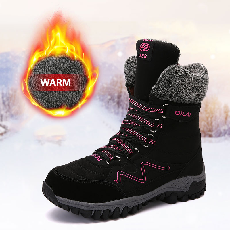 MWY Winter Warme Frau Wandern Schuhe Wandelschoenen Dames Nicht Slip Berg Sport Stiefel Klettern Outdoor Turnschuhe Für frauen