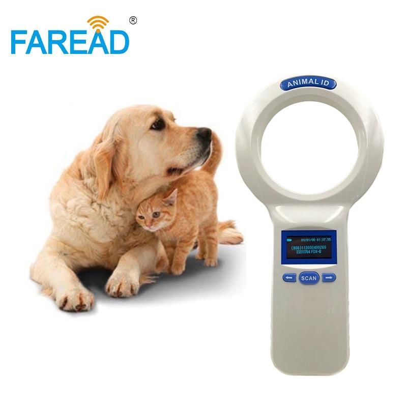 RFID FDX B USB 1000 ID codes 134 2KHz handheld reader animal chip scanner for pets
