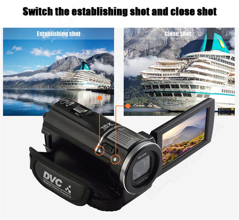 """ORDRO HDV-F5 1080P Digital Video Camera Max 24MP 16X Anti-shake 3.0"""" Touch Screen LCD Camcorder DV With Remote Controller 9"""