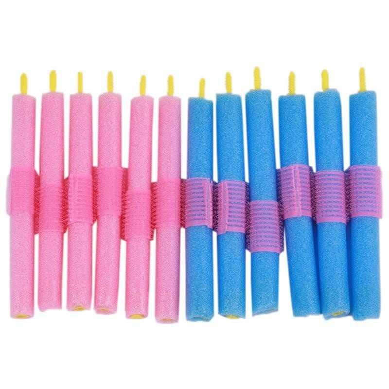 Best 12 Pcs Hair Magic Self-adhesive Curly Sponge Hair Stick HairStyle Maker Tool DIY Salon Accessory QQ99