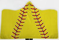 new Oversized Soccer Pattern Hooded Sherpa Blanket Soft Printed American Football Fans Cloak 150cmX130cmCHILD