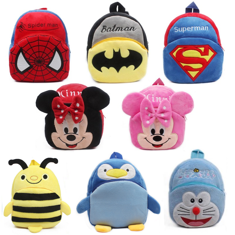 New cute cartoon kids plush backpack toy mini school bag Children s gifts kindergarten boy girl