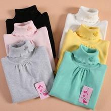 Female child turtleneck sweater clothing knitted basic shirt child women's autumn and winter sweater