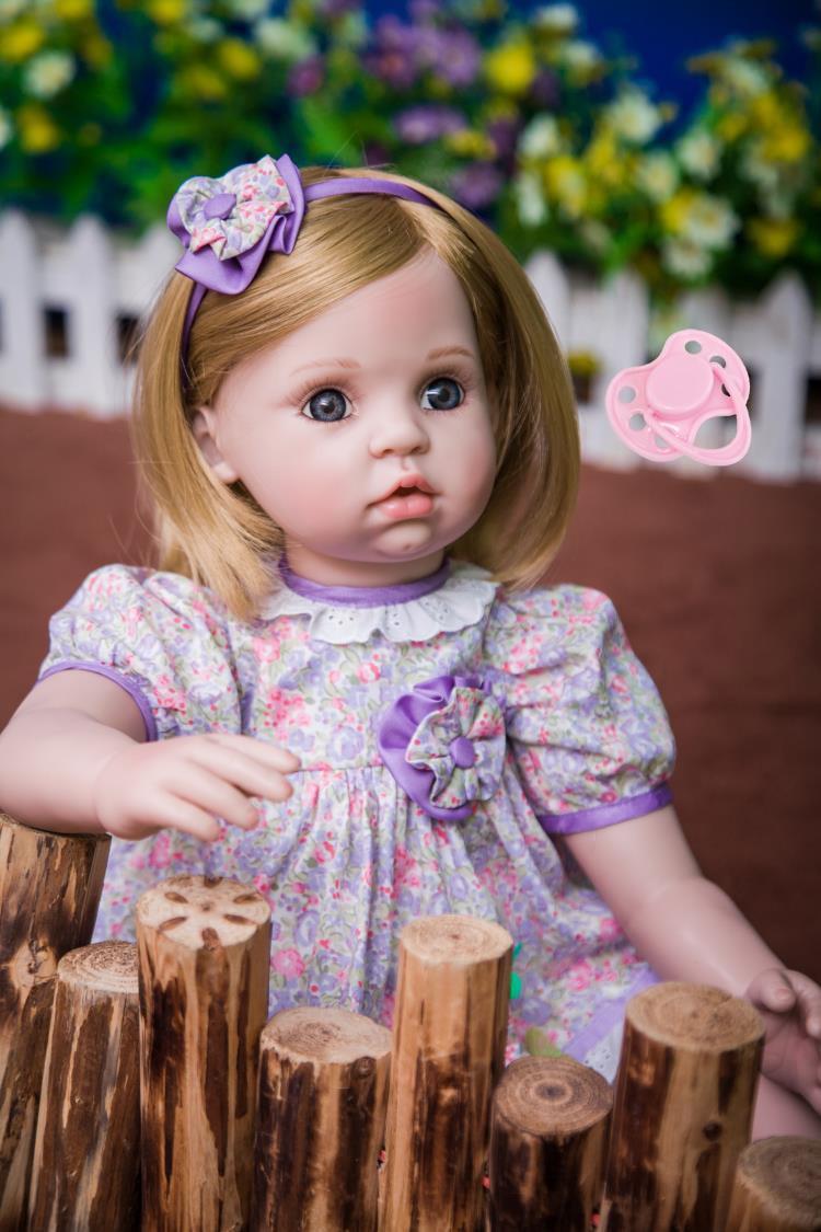 60 см силикона Reborn Baby Doll игрушки, как настоящее 24 дюймов виниловые Изысканный Принцесса для маленьких девочек младенцев куклы подарок на ден...