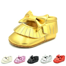 2019 Boys and Girls Seasons Fringed Bow hollow Baby Shoes Microfiber leather Toddler