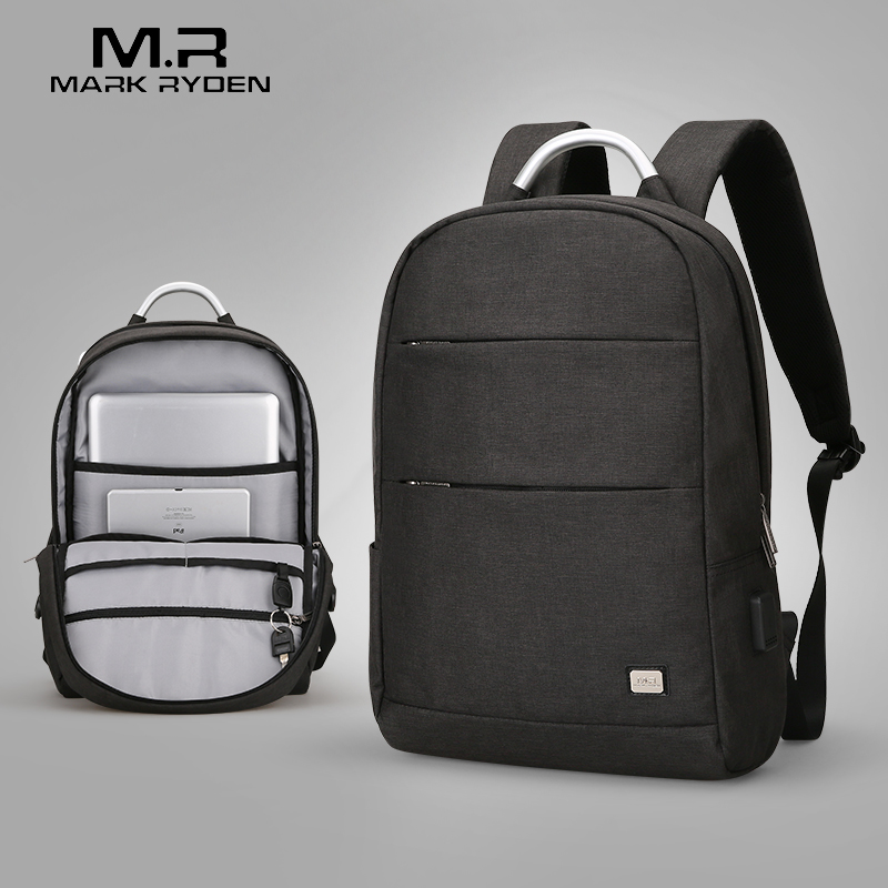 Mark Ryden New Arrivals Usb Recharging Anti thief Backpack Waterproof Two Size Fashion Portable Bag Male