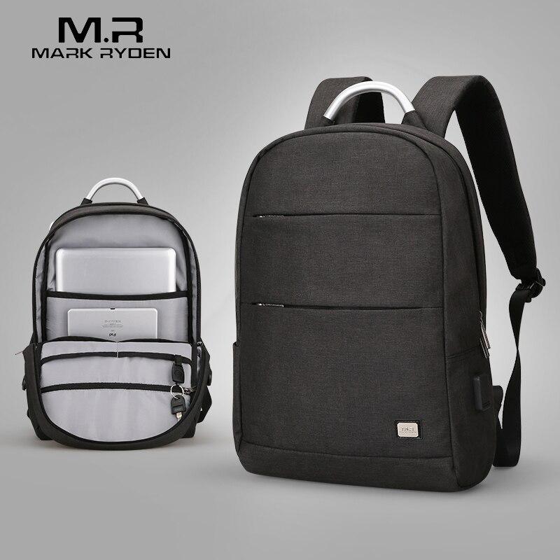 Mark Ryden Neuheiten Usb Aufladen Anti-dieb Rucksack Wasserdicht Zwei Größe Mode Tragbaren Tasche Männlichen