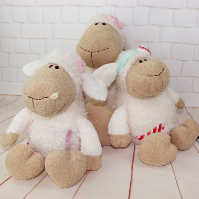 40cm Factory direct sale Wholesale  NICI sleepy sheep lovely lamb Candy sheep flower sheep for birthday gift 1pcs