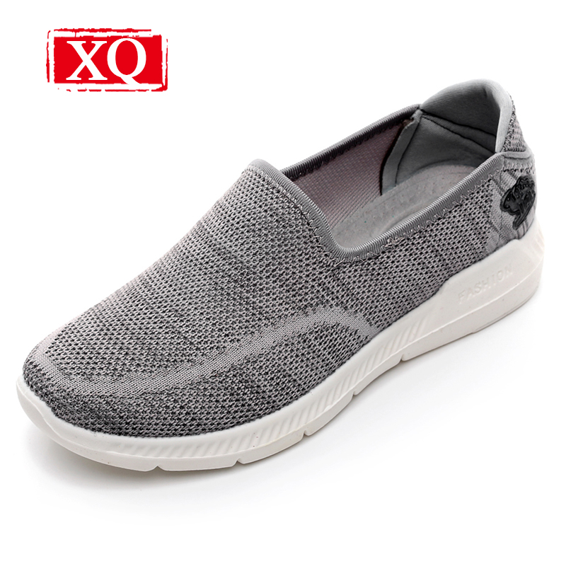 XQ 2017 New Fashion Women Casual Shoes Breathable Solid Loafers Lightweight Soft Sole Antiskid Flat Shoes Slip-on Shoe L146 lin kingnew women flats shoes fashion pu casual shoes solid slip on ankle shoes retro tasssel loafers thick sole knot lazy shoes