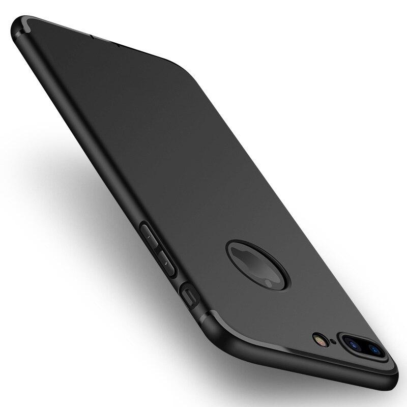 Для iPhone 7 Plus чехол ультра тонкий силиконовый тонкий ТПУ мягкий чехол для iPhone 7 iPhone 6S 6 плюс матовая задняя крышка + Защита от пыли 2 шт./лот