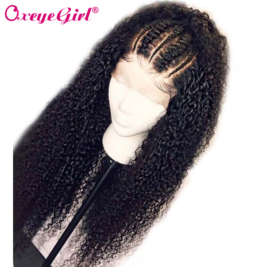Oxeye girl Afro Kinky Curly Wig 360 Lace Frontal Wig Pre Plucked With Baby Hair Remy