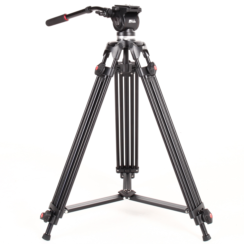 JIEYANG JY0508 Camera Tripod with Fluid Video Head Professional Tripod for Canon Snoy DSLR Photography Video Christmas Photo aluminium alloy professional camera tripod flexible dslr video monopod for photography with head suitable for 65mm bowl size