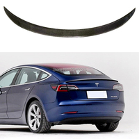 2017 2018 2019 2020 For New Tesla Model 3 Car Accessories High Quality Real Carbon Fiber Rear Trunk Lip Spoiler Wing Decoration