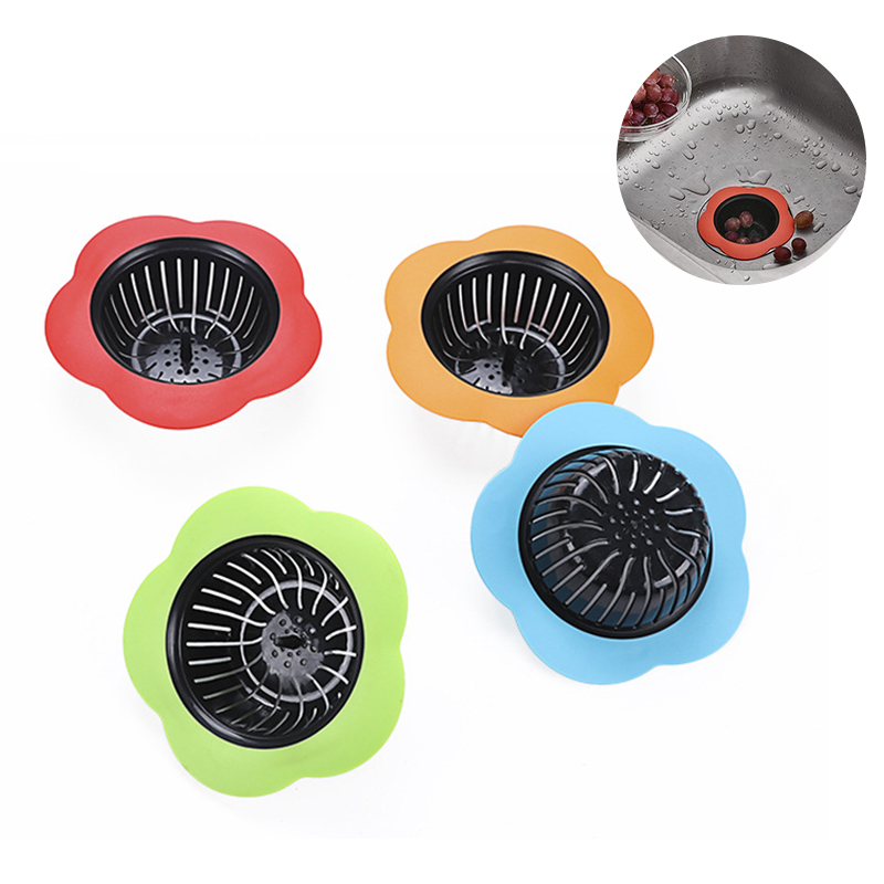 Kitchen Sink Drainer Bathroom Anti-blocking Tools Kitchen Sink Drain Flower Floor Drain Cover Plug Water Filter