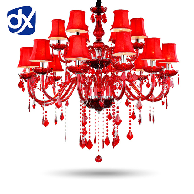 Red crystal chandeliers e14 socket red k9 chandelier crystal red crystal chandeliers e14 socket red k9 chandelier crystal lampadario chandelier ceiling without lampshade aloadofball Choice Image