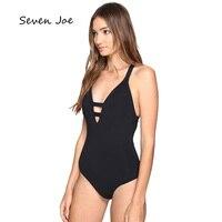 Women Solid Black Printed Patchwork Designer Swim Bikini Bathing Suit Padded Sexy Bandage Swimsuit One Pieces