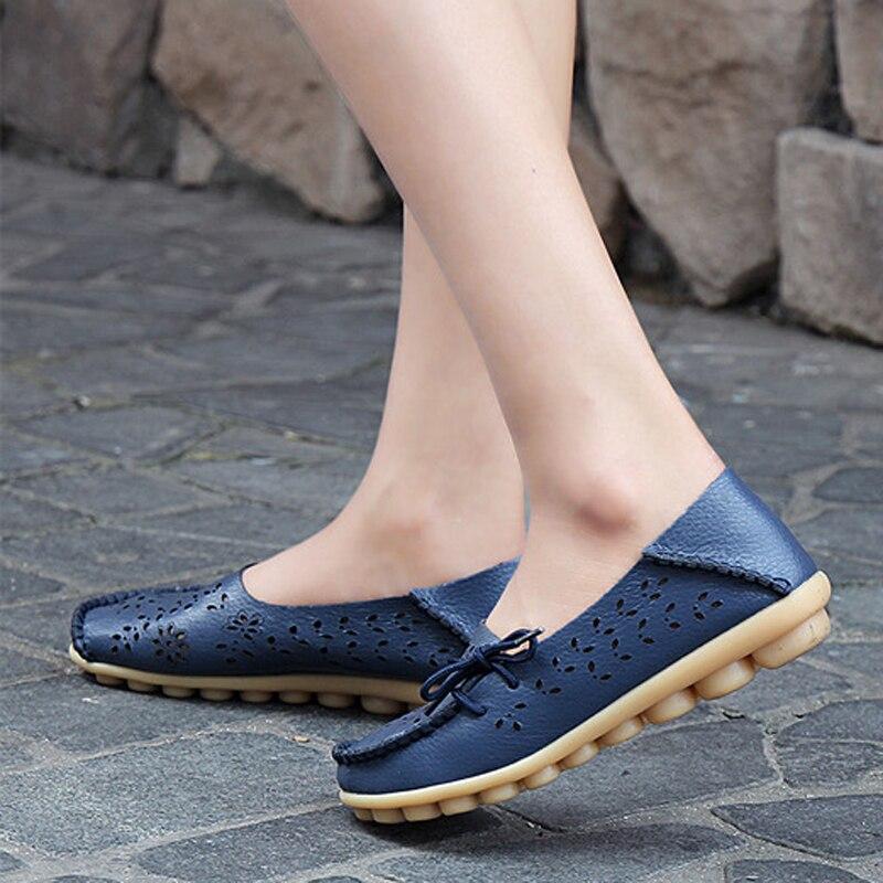 2017 Mujeres de Las Mujeres Cómodas Pisos recortes Zapatos Casuales Mocasines de