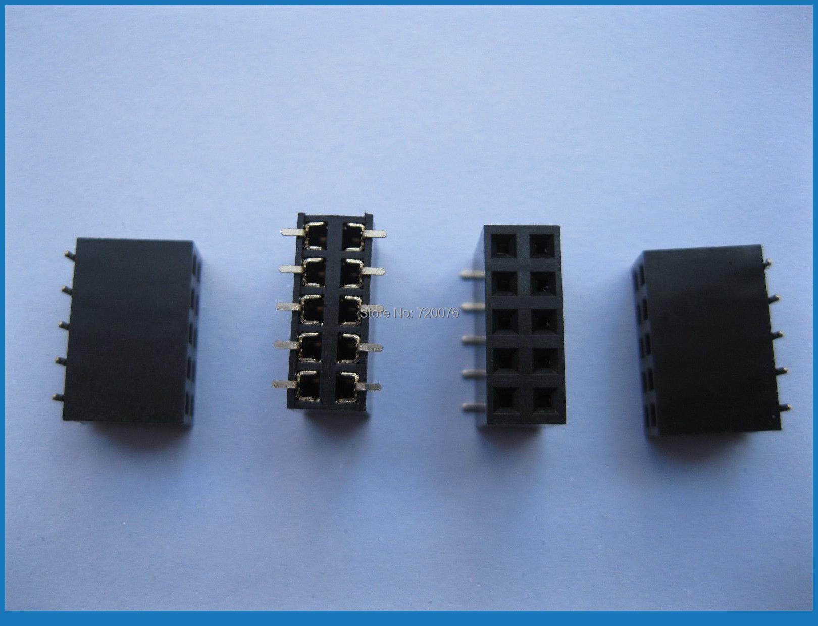 10 pcs Gold Plated SMD SMT 2.54mm Breakable Female Pin Header 10pin Dual Row диски helo he844 chrome plated r20