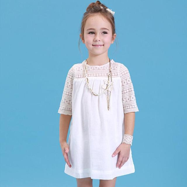 2017 Kids Cotton Lace Girls Dress 3 to 10 Years Old Casual Summer ...