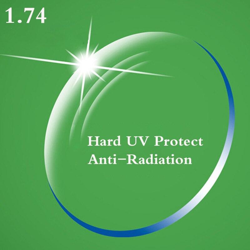 1.74 Indice Ultra Sottile CR-Asferico Prescrizione di Miopia Presbiopia Occhiali Da Vista Ottico Lente UV Protect Anti-Radiazioni YQ082
