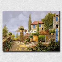 Hot Sell Pictures Idea Fairy Tales House Printing For Friends Gift High Quality Arts Hang On
