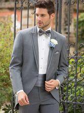 2017 Latest Coat Pant Designs Light Grey Wedding Suits for Men Slim Fit 2 Piece Tuxedo Custom Groom Blazer Style Suit Masculino