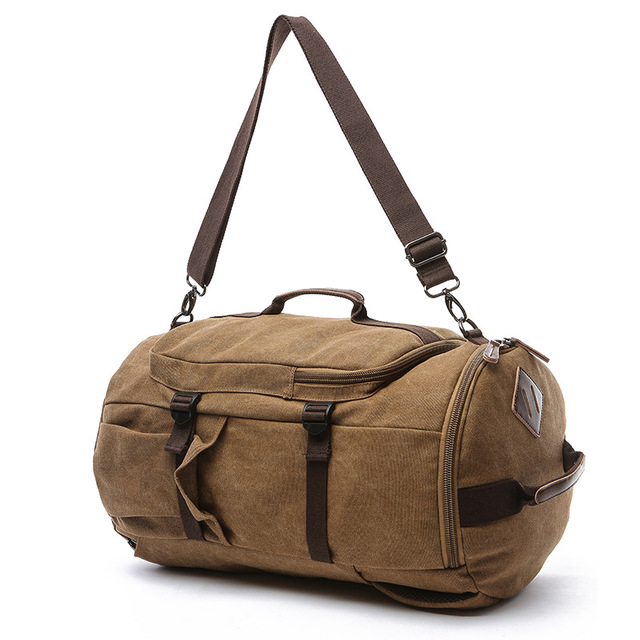 8864b38e4fe9 New Canvas Men Luggage Bag Carry on Luggage Travel Bags Fashion Man Duffel  Weekend Overnight Bag