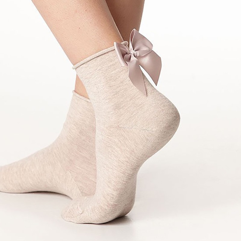 Lovely Candy Color Bow Socks
