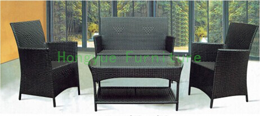 Wicker sofa furniture set for living room Rattan home furniture 6 pcs half round rattan sofa set pastoralism home indoor outdoor rattan sofa for living room