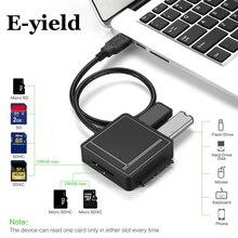 USB3.0 SATA адаптер TF/SD Card Reader USB 3.0 концентратор 2 Порты конвертер 3 в 1 для 2.5 /3.5 HDD жесткий диск
