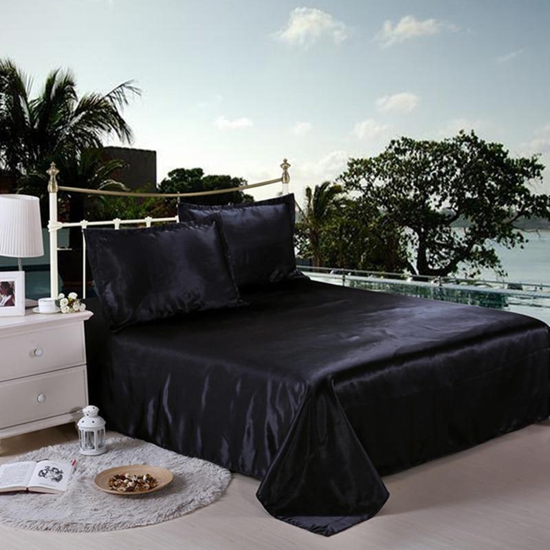 Image 4 - LOVINSUNSHINE Luxury Bed Linen Set Duvet Cover Single Comforter Bedding Sets King Size Silk AB04#-in Duvet Cover from Home & Garden