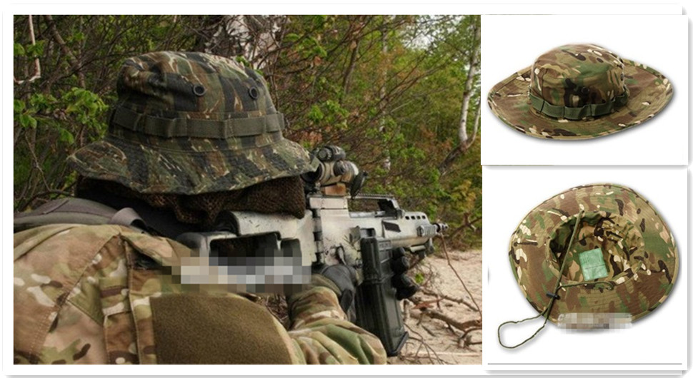 11colors Military Wide Brim Bucket camo Camping Hunting hiking Hat free shipping